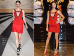 Adriana Lima In Matthew Williamson - Victoria's Secret London Press Conference