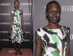 Alek Wek In Marks & Spencer Autograph - The New York Observer Relaunch Event