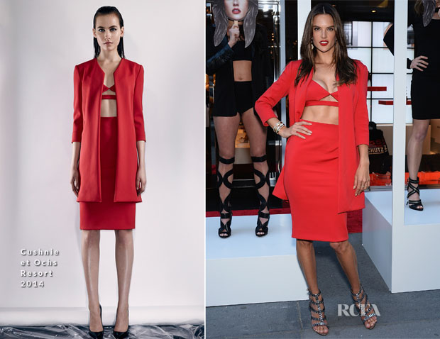 Alessandra Ambrosio In Cushnie et Ochs - Schutz Summer 2014 Collection Launch