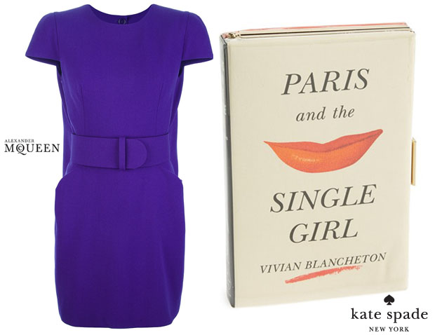 Alexander McQueen Kate Spade New York 'Paris and the Single Girl' book clutch