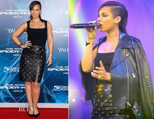 Alicia Keys In BCBG Max Azria - 'The Amazing Spider-Man 2 Rise Of Electro' New York Premiere
