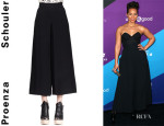 Alicia Keys' Proenza Schouler High-Waist Cropped Gaucho Pants