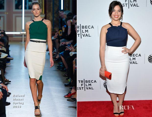 America Ferrera In Roland Mouret - 'XY' Tribeca Film Festival Premiere
