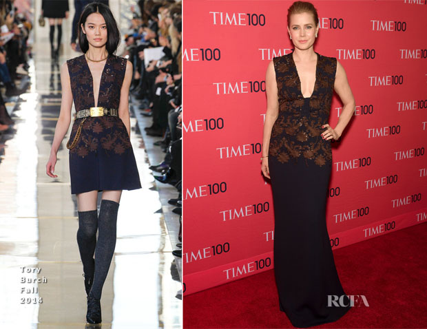 Amy Adams In Tory Burch - Time 100 Gala 2014