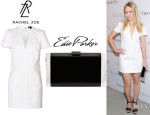 AnnaSophia Robb's Rachel Zoe V-Neck Dress And Edie Parker 'Lara' Clutch