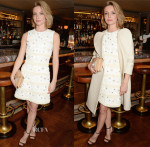Annabelle Wallis In Mulberry - Charles Finch, Mulberry and PORTER Magazine Dinner Party