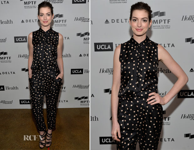 Anne Hathaway  In Paule Ka - 3rd Annual Reel Stories, Real Lives Benefit