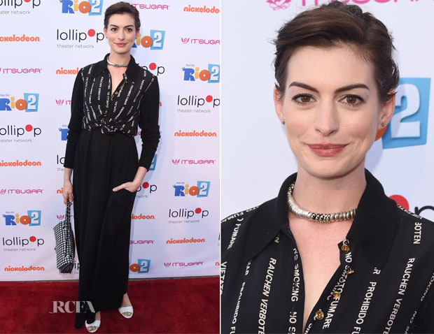 Anne Hathaway In Vintage Chanel - 'Rio 2' LA Screening
