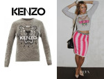 Beyonce Knowles' Kenzo Tiger Embroidered Sweatshirt