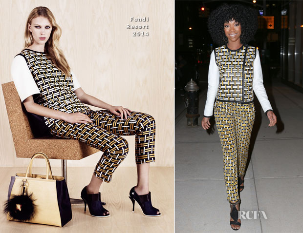 Brandy Norwood In Fendi - Out In New York City