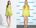 Brooklyn Decker In Valentino -  SiriusXM Studios