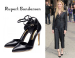 Brooklyn Decker's Rupert Sanderson 'Jeanette' Ankle Strap Pumps
