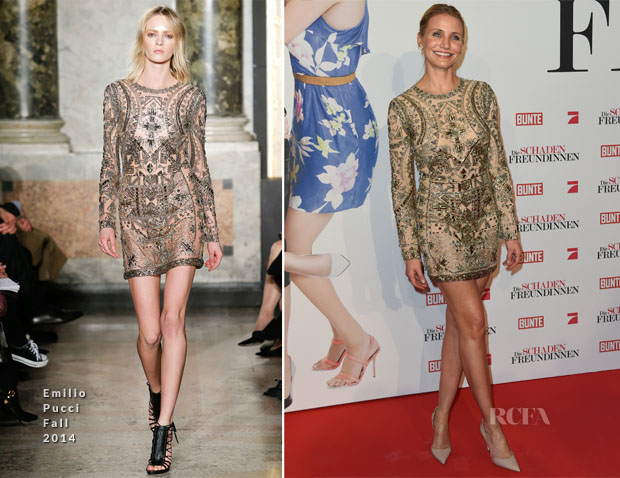 Cameron Diaz In Emilio Pucci Fall 2014 - 'The Other Woman' Munich Premiere