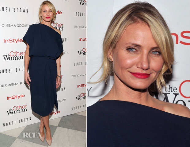 Cameron Diaz In Vionnet - 'The Other Woman' New York Screening