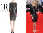 Cameron Diaz' The Row 'Hentner' Lambskin Dress