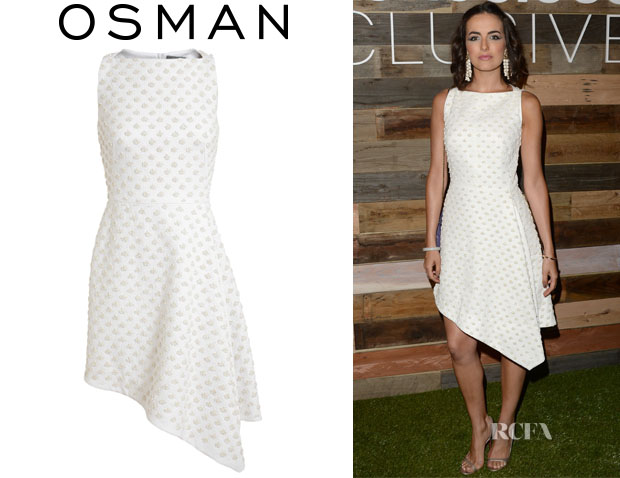 Camilla Belle's Osman Embellished Cotton Asymmetric Hem Dress