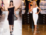 Candice Swanepoel In Roland Mouret - Victoria's Secret London Press Conference