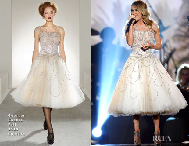 Carrie Underwood In Georges Chakra Couture - ACM Presents An All-Star Salute To The Troops