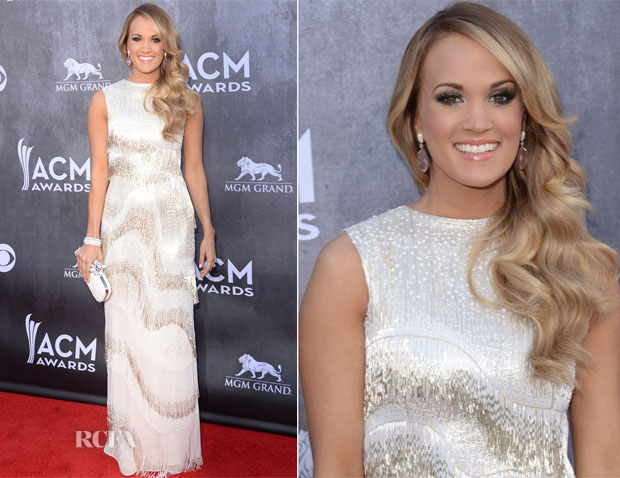 Carrie Underwood In Oscar de la Renta - ACM Awards 2014