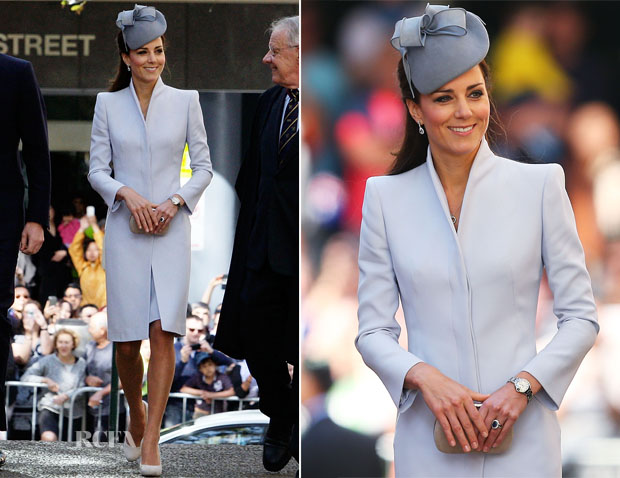 Catherine, Duchess of Cambridge In Alexander McQueen - Easter Sunday Service