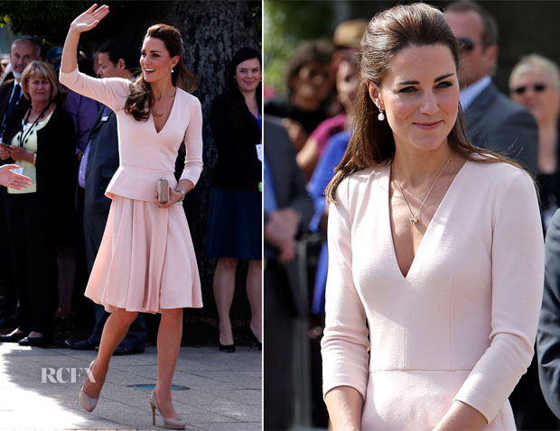 Catherine, Duchess of Cambridge In Alexander McQueen - Playford Civic Centre