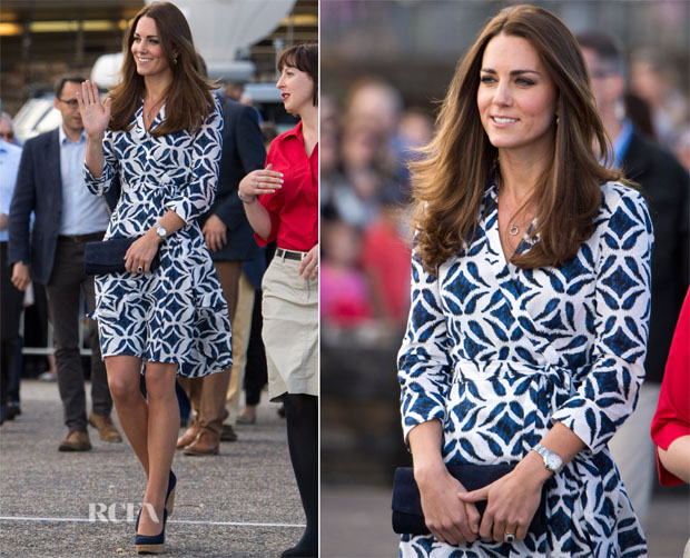 Catherine, Duchess of Cambridge In Diane von Furstenberg - Echo Point Visit