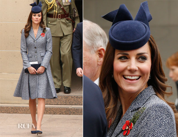 Catherine, Duchess of Cambridge In Emilia Wickstead - Australian War Memorial