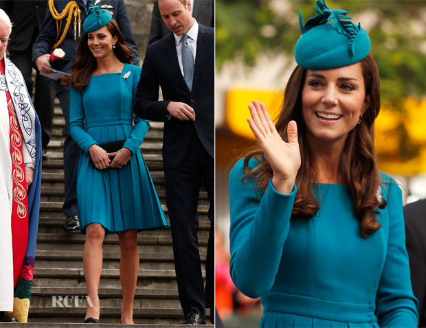 Catherine, Duchess of Cambridge In Emilia Wickstead - Palm Sunday Service
