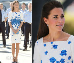 Catherine, Duchess of Cambridge In L.K. Bennett - Royal Australian Airforce Base