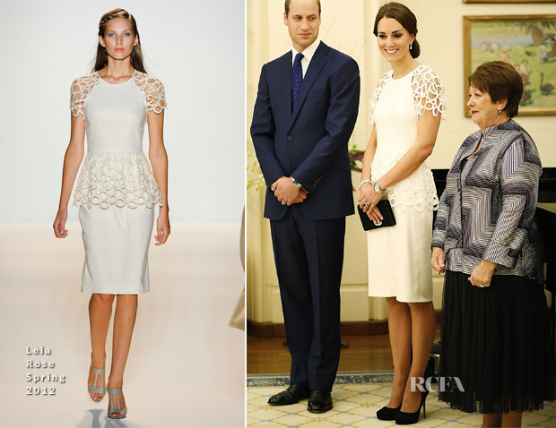 Catherine, Duchess of Cambridge In Lela Rose - Governor General Peter Cosgrove Reception