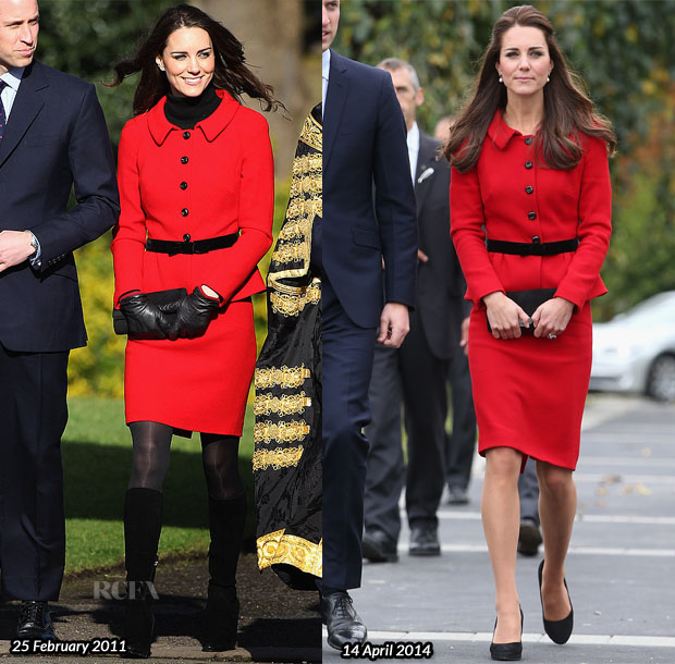 Catherine, Duchess of Cambridge In Luisa Spagnoli - Botanical Gardens Opening