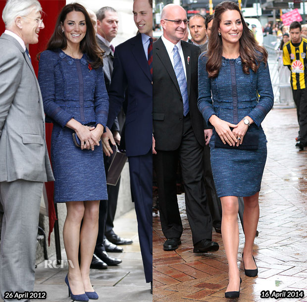 Catherine Duchess Of Cambridge In Rebecca Taylor Royal
