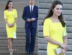 Catherine, Duchess of Cambridge In Roksanda Ilincic - Sydney Airport & Sydney Opera House