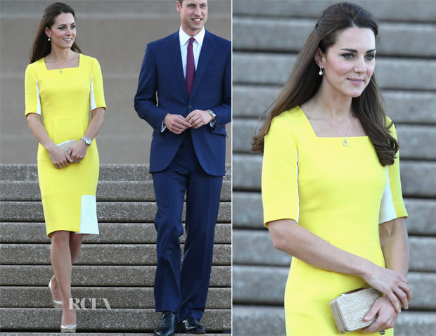 Catherine, Duchess of Cambridge In Roksanda Ilincic - Sydney Airport & Sydney Opera House2