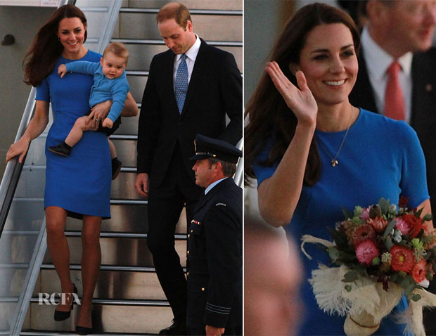 Catherine, Duchess of Cambridge In Stella McCartney - Fairbairn Airport