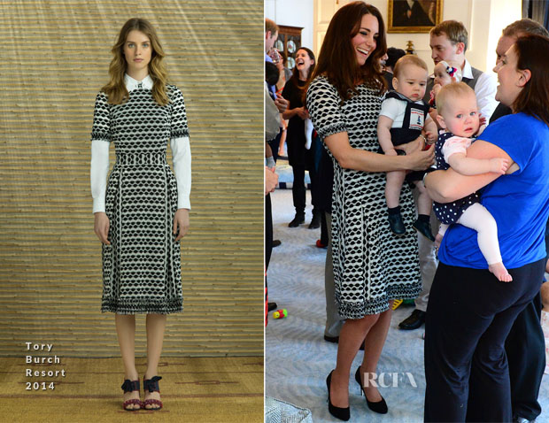 Catherine, Duchess of Cambridge In Tory Burch Resort 2014 - Plunkett's Parents' Group