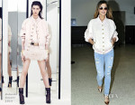 Cheryl  Cole In Balmain & Frame Denim - LAX
