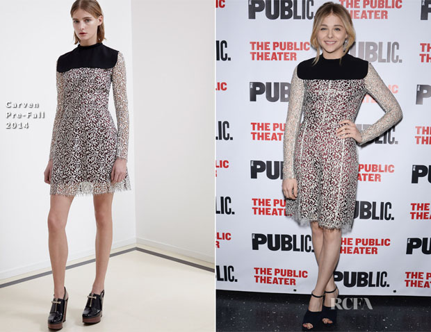 Chloe Grace Moretz In Carven - 'The Library' Opening Night Celebration