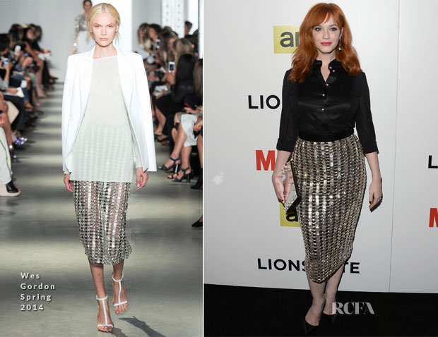 Christina Hendricks In Wes Gordon - 'Mad  Men' Season 7 LA Premiere
