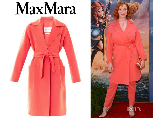 Christina Hendricks' Max Mara Feltre Coat