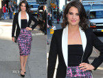 Cobie Smulders In Monique Lhuillier - Late Show with David Letterman