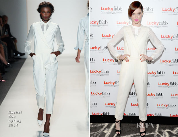 Coco Rocha In Rachel Zoe - Lucky FABB Fashion and Beauty Blog Conference