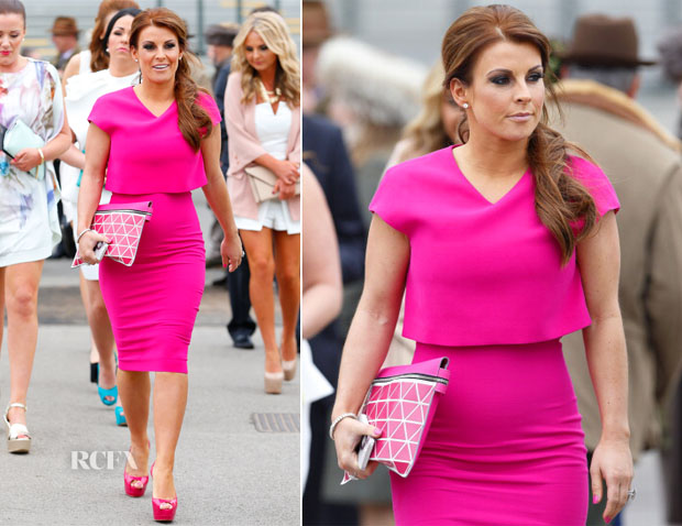 Coleen Rooney In Victoria Beckham - Aintree Racecourse