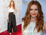 Darby Stanchfield In Sachin + Babi  and  Katharine Kidd - The Television Academy Foundation's 35th Annual College Television Awards Gala