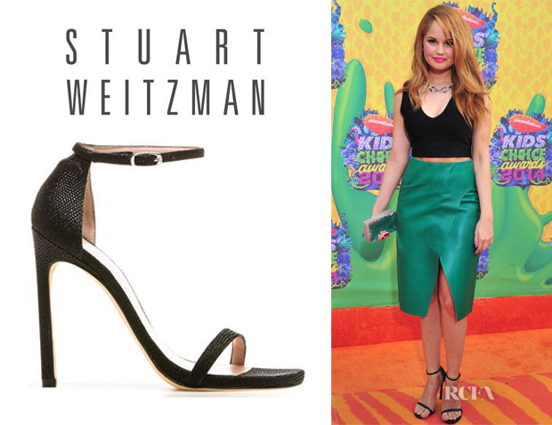 Debby Ryan's Stuart Weitzman 'Nudist' Sandals