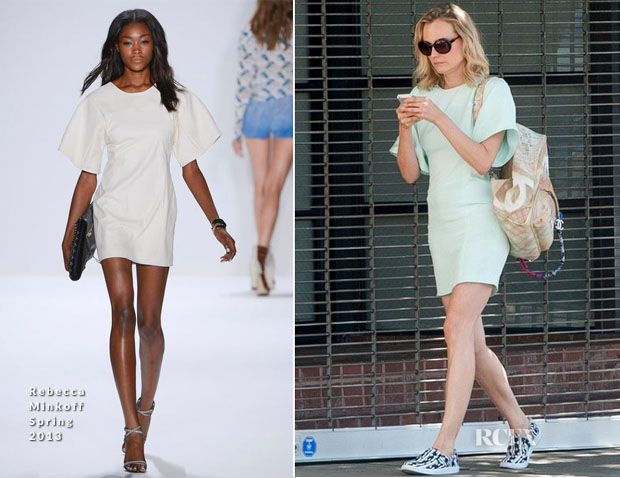 Diane Kruger In Rebecca Minkoff - Out In LA