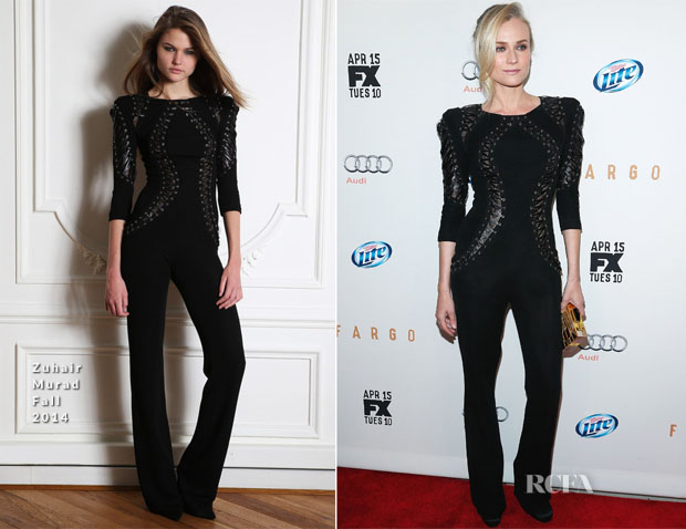 Diane Kruger In Zuhair Murad - 'Fargo' New York Screening