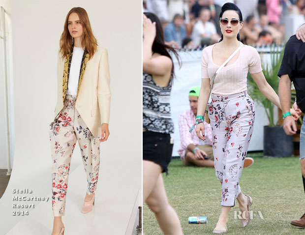 Dita von Teese In Stella McCartney - Coachella Music Festival 2014
