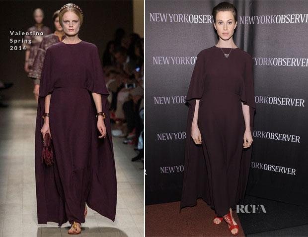 Elettra Wiedemann In Valentino - The New York Observer Relaunch Event