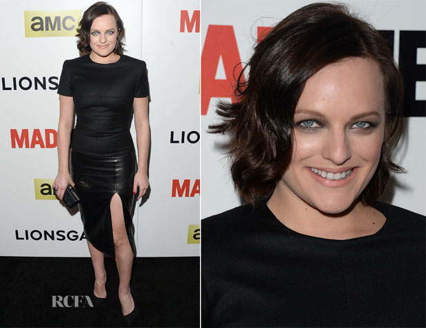 Elisabeth Moss In Alexander McQueen - 'Mad Men' Season 7 LA Premiere